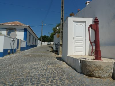 Ericeira cottage rental - Water pump in a street of Santo Isidoro, a quiet old-fashioned village