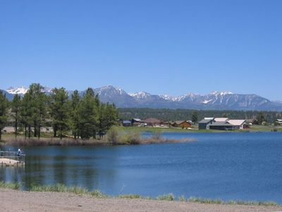 Village Lake is a half block from Kick Back Cabin - Wolf Creek Pagosa Springs CO