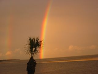 Fripp Island condo photo - Incredible Rainbow (from the Living Room)