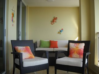 Fajardo apartment photo - Spacious Balcony (seats 6 to 8 people)