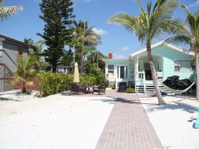 Fort Myers Beach cottage rental - Little Palm View from Beach