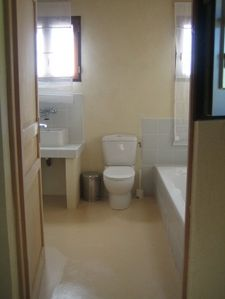 Spacious bathroom with separate shower cubicle