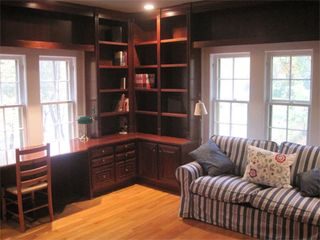 Atlanta house photo - Mahogany library with pocket doors to the master BR has sleeper sofa