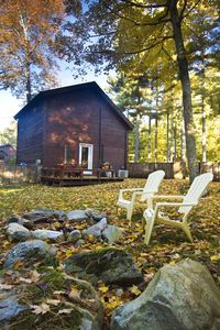 Cozy Berkshire getaway with fire pit and back deck.