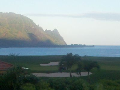 VIEW from UPPER LANAI of home * OCEAN -  GOLF COURSE -  Famous Bali Hai *