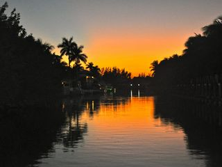 Duck Key house photo - Sunset Down the Canl