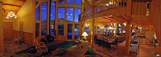 Pagosa Springs house photo - West Great Room with Entry at left and Dining and Kitchen at right