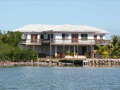 Casa Dam pictured from the Caribbean waters, Ambergris Caye, Belize - San Pedro
