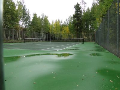 Private Tennis Courts and Playground on Property for Your Use