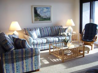 St. Augustine condo photo - 2012 Capri Sofas, Custom Rattan, Monet Art