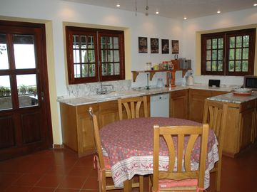 spacious provincial kitchen. Terrace with beautiful sea view