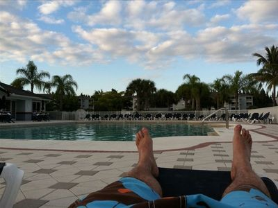 Fort Myers Beach condo rental - Relax by the pool