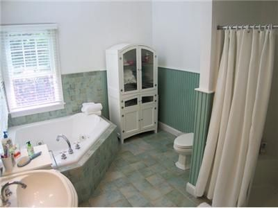 ...and spacious master bath with tub and separate shower
