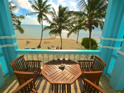 YES! **RENT ME IN BELIZE**  B2 SUNSET BEACH CONDOS -BeachFront w/TOYS (Sleeps 8)