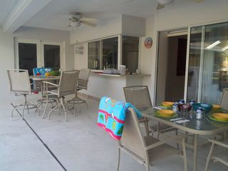 Sarasota house photo - Large lanai for entertaining