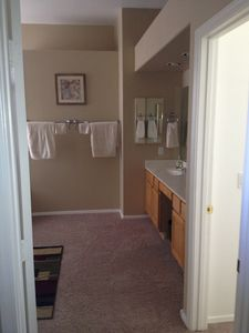 Master Bath. Large walk-in closet, separate soaking tub and shower.