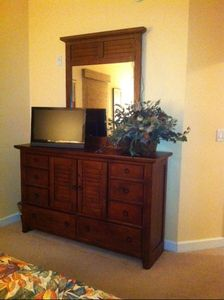 Elegant dresser and flat screen tv