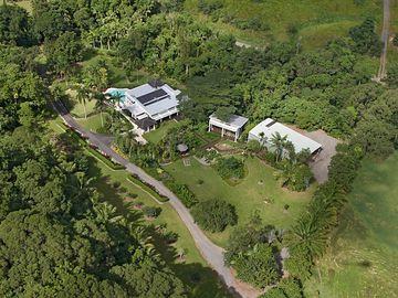 Complete privacy, in lush tropical gardens and natural rainforest