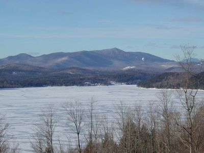 Winter - View the High Peaks of the Adirondacks! Gore Mt. in view down the lake!