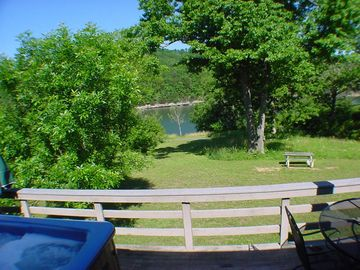 Holiday Island chateau / country house rental - Blue Water Drive #65-4 - View from deck!