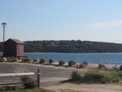 Peconic Bay and views of Shelter Island steps from the apartment