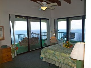 Water Island house photo - Master King bed with walkout veranda and sea views