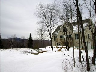 Wilmington chalet photo - Front view of house and Haystack Mt.