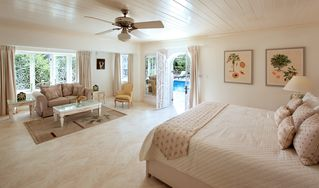 Sandy Lane villa photo - Master bedroom suite opens up directly on to the pool deck for easy access