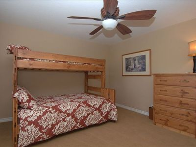 Bunk  Bed and aingle bed across room