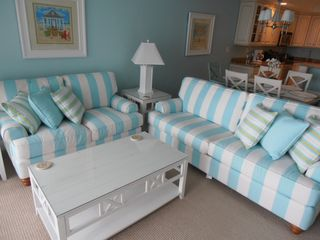 "Belmont Towers Ocean City condo photo - Living room with the 55"" LED"