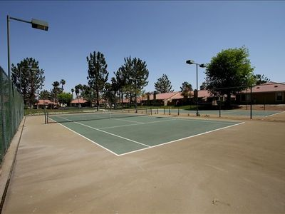 Two Nightly Lit Tennis Courts at your Convenience.