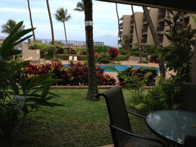 Honokowai condo rental - Day time lanai view