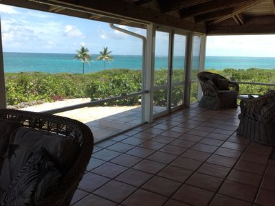 View of Ocean from in-side patio.