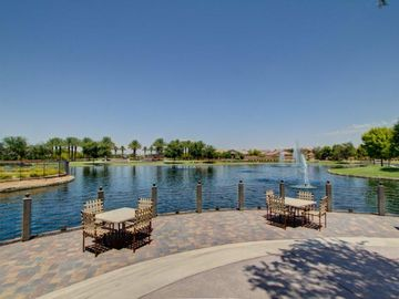 Maricopa house rental - Sitting lakeside listening to soothing fountains is the way to go