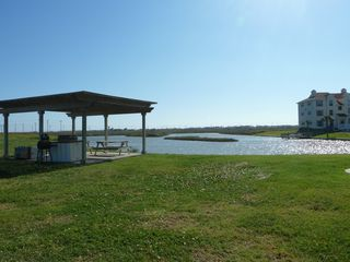 North Padre Island condo photo - Gulf fed pond on property. Great place for crabbing.