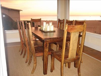 Dining room with view of the beach