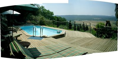 Fayence villa rental - Pool with a view