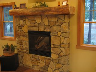 Burney house photo - Stone fireplace