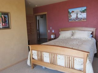 Jenner house photo - Main floor master. Queen bed with amazing mattress and down comforter.Ocean view