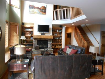 Snowshoe Mountain house rental - Fireplace, flat screen, high ceilings