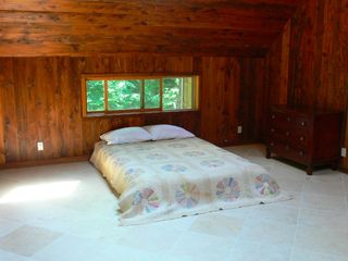 Phoenicia house photo - Upstairs bedroom with 4 skylights! Gaze at the moon + stars while laying in bed!