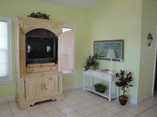 El Centro Beach house photo - Media cabinet with TV, DVD player and VCR.