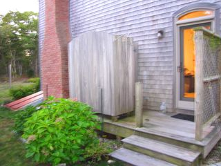 West Tisbury house photo - Take a refreshing outdoor shower (hot water)