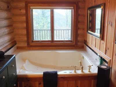 Seven foot long, two person jetted Jacuzzi in Master Bath that will spoil you