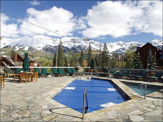 Mountain Village condo photo - Pool Deck View of Gondola and Telluride Peaks