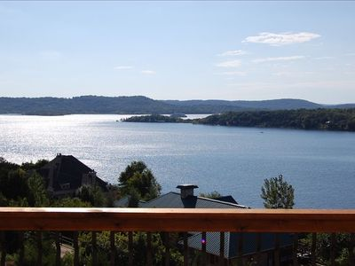Panoramic Views of Crystal Clear, Deep Blue,  Table Rock Lake