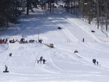 Snow tubing, skating, snow shoeing and skiing just 1/2 mile away!