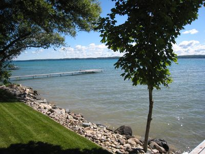 Torch Lake Lakefront Cottage With Large Boat Hoist