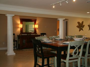 Dining area is very large for big families to enjoy!