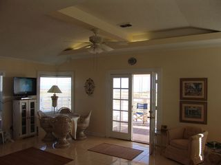 Galveston property rental photo - Large Dining Area with HD Direct TV